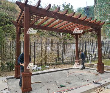 碧桂园龙湾中式廊架